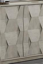 Faceted Wood Details (Shown), Geometric Angles, Bowed Fronts and Other Various Details Add Dimension