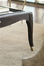 Metal Ferrules on Table Legs Instill Pieces with Sophisticated Glamor