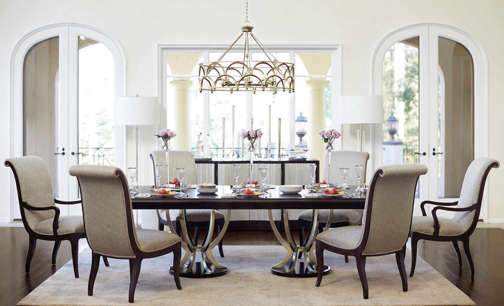 Bernhardt Miramont 9 Piece Dining Set with Double Pedestal Table