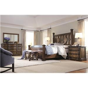 Bernhardt Montebella Queen Sleigh Bed with Scroll Detail