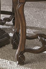 Carved Scroll Detailing Highlights Soft Shapes