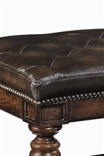 Rich Tufted Leather With Nail Head Trim