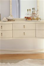 Beautiful Shaping Gives Pieces like the Sideboard an Eclectic Look
