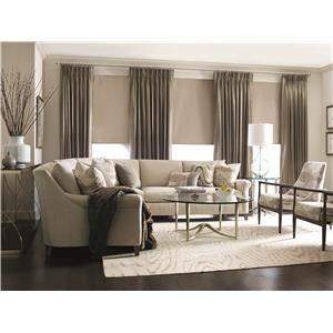 Bernhardt Sherman Sofa with Pleated Arms