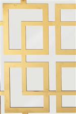 Greek Key Design Elements and Glamorous Mirrored Panels