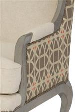 Wooden and Upholstered Arms