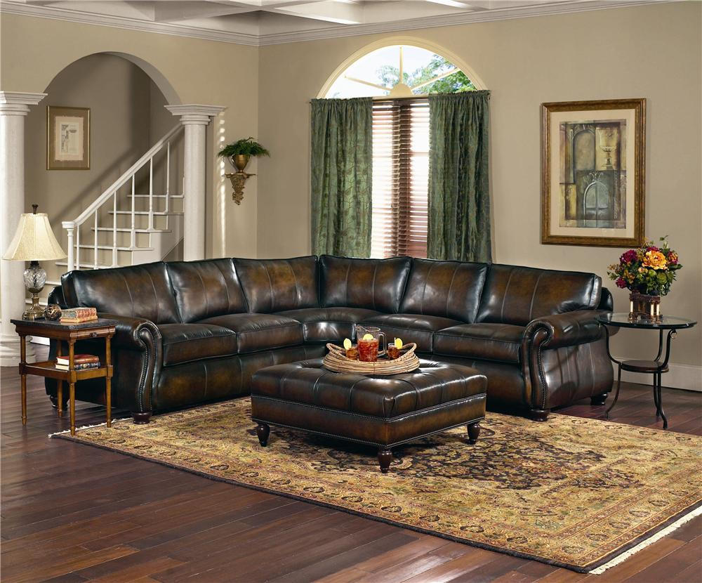 Bernhardt Van Gogh Leather Sectional Group | Stuckey Furniture | Sofa  Sectional