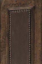 Standard Leather Panel with Decorative Nailhead  Accents