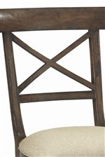 X-Shaped Wooden Chair Back
