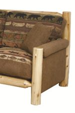 Padded Track Arms & Exposed Log-Style Frames