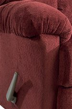 Plump Pillow Top Arms with Exterior Handle
