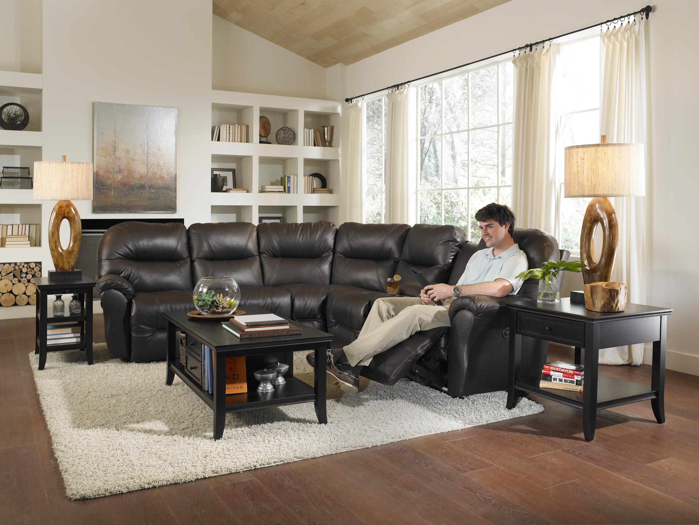 Best Home Furnishings Bo 3 Seater Power Reclining Home Theater
