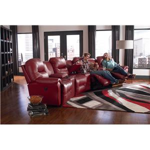 Best Home Furnishings Bodie Rocking Reclining Loveseat with Storage Console