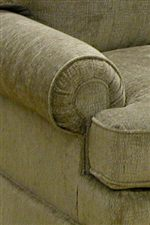 Rolled and Pleated Arms Provide Traditional Decorative Detail