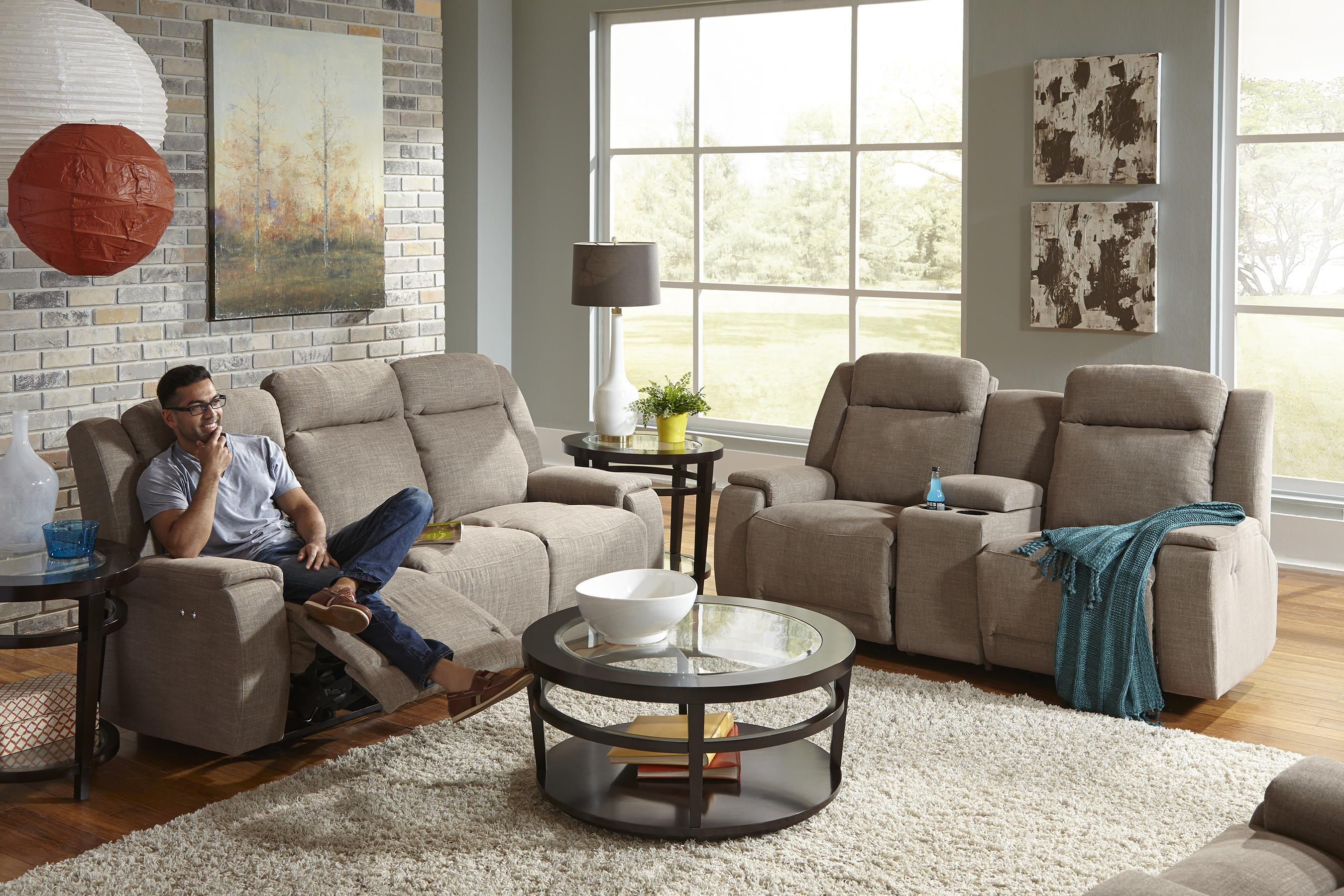Home Furnishings Best Home Furnishings Hardisty Casual Power Reclining Sofa With