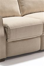 The Look of Traditional, Reversible Sofa Cushions is Created by a Chaise Lounge that Recedes Into the Sofa When Closed