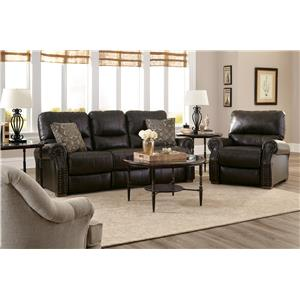 Morris Home Furnishings Lander Reclining Living Room Group