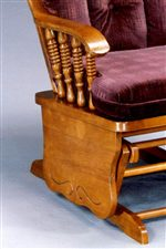 Turned Spindles, Gliding Bases, and Carved Base Details are Features of the Collection