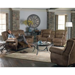 Morris Home Furnishings Terrill Transitional Space Saver Reclining Sofa