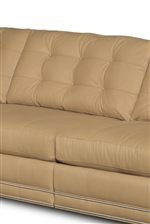 Square Cushions with Button-Tufting Create Cozy Yet Contemporary Feel