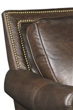 Classic Nail Head Trim on the Back and Bold Welt Cord Trim on the Cushions