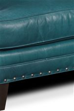 Spaced Nail Head with Horizontal Welt Cushion and Front Rail