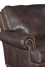 T-Back Cushions Create a Comfortable Look That is Gorgeously Dressed Up with Rolled Arms and Nailheads