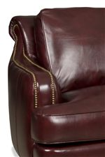 Rolled Back and Rounded, Low Profile Track Arm, Both Featuring Nailhead Trim Accent