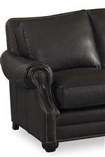 Boxed-edged Back Cushion with Nailhead Trim