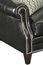Classic Rolled Arms and Tapered Legs with Elegant Nailhead Trim