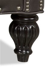 Turned Wood Leg with Decorative Fluting
