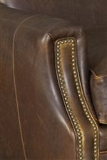 Rounded Track Arms with Small Nailheads