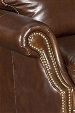 Flared Roll Arms with Nailhead Trim