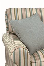 Loose, T-Back Cushion with Welt Cord Trim