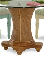 Pedestal with Wicker Detailing