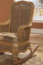Rocking Chair with Sturdy Wood Legs