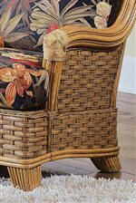Exposed Wood Arms and Feet Compliment the Woven Detail