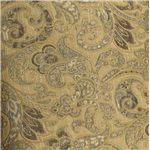 Golden Tan Fabric Creates an Elegant Upholstered Aura Through an Elaborate Floral Design