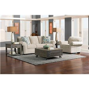 Broyhill Express Zachary Transitional Chair with Oversized Rolled Arms
