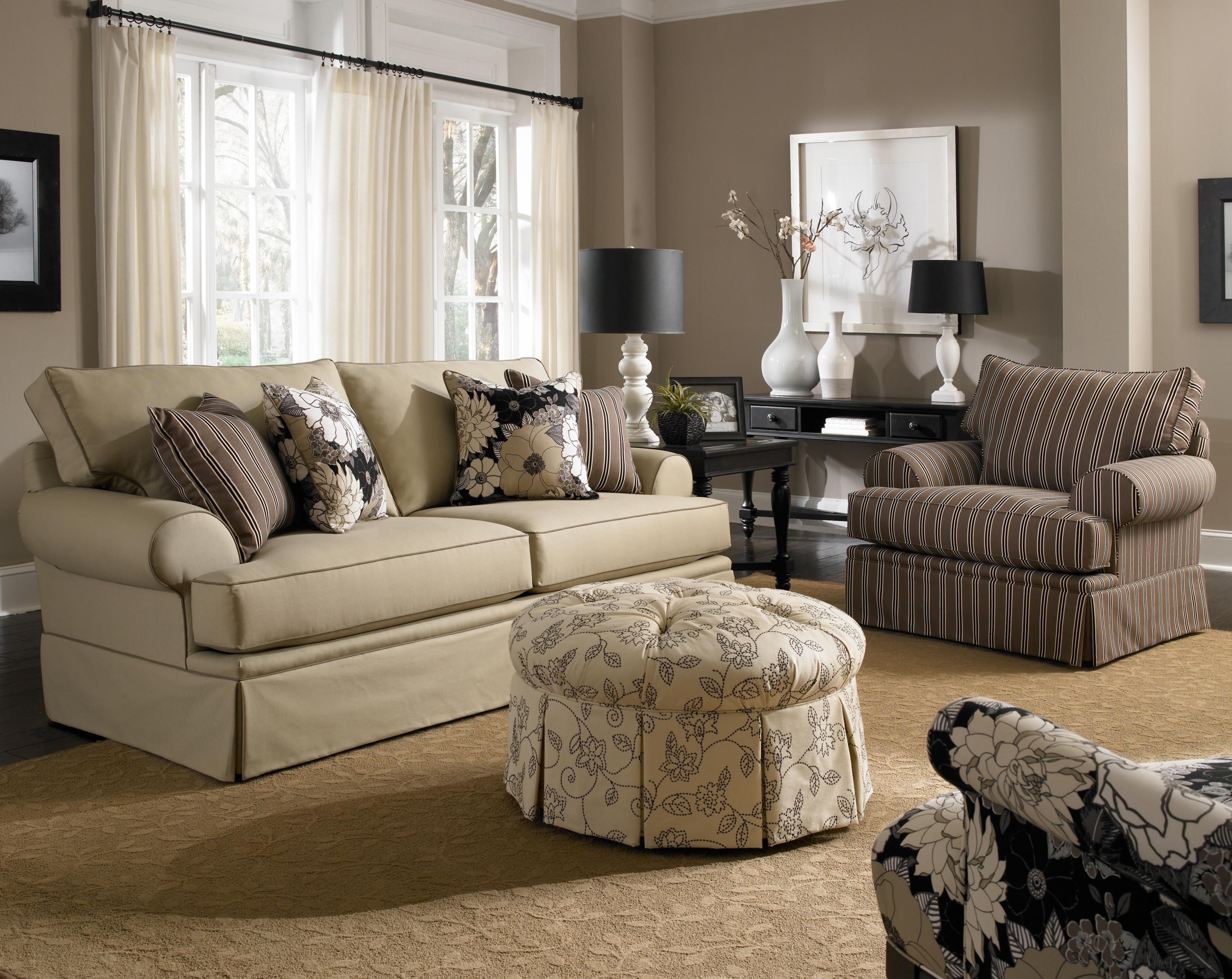 Broyhill Furniture Emily Stationary Living Room Group - Item Number: 6262 Living Room Group 1
