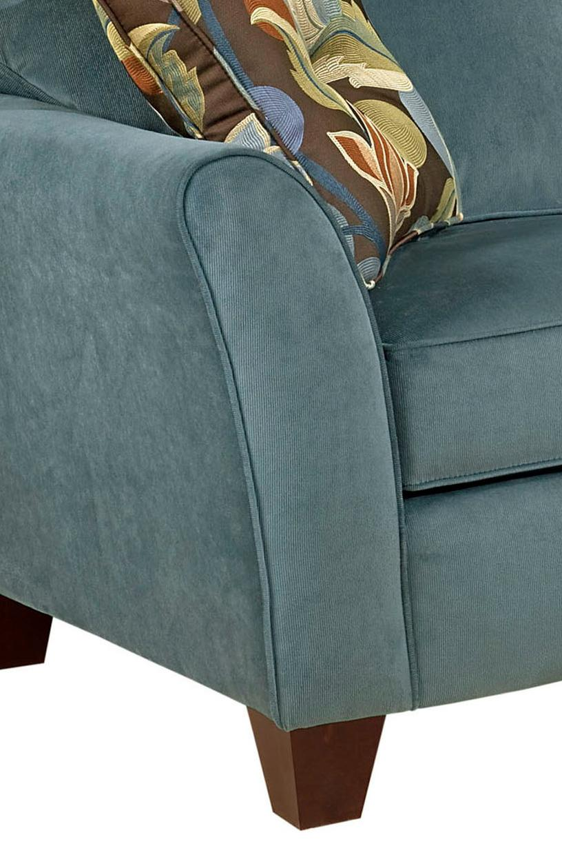 Broyhill Furniture Maddie Contemporary Style Sofa With Flared Arms    Lindyu0027s Furniture Company   Sofas