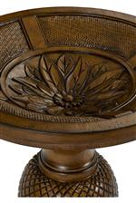 Decorative Floral Carving in Round Table Base