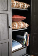 Detail of Bedroom Armoire Shelves.