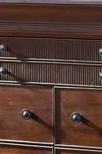 Reeded Drawer Fronts Suggest Tropical Design