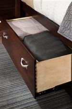 Additional Drawer and Open Areas for Extra Storage featured in Captain's Bed