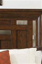 Headboard Features Pierced Cutout Detail for an Updated Look