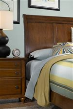 Slightly Arched Panel Sleigh Headboard