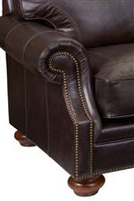 Rolled Arms with Nailhead Trim