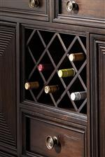 Server's Built In Wine Bottle Storage
