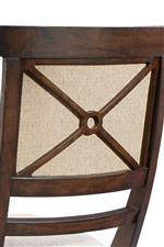X Shaped Frame on Dining Chair Backs